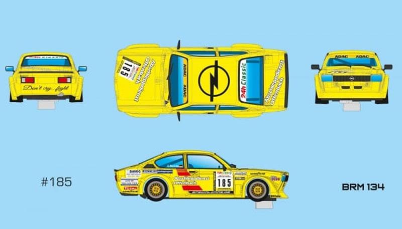 BRM134- Opel Kadett C GT/E - ADAC Spa Race Festival 2014