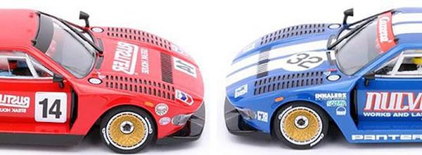 Carrera: Deux Tomaso Pantera Groupe 5 pour les pistes de slot