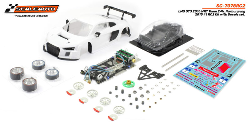 SC-7078RC2 LMS GT3 Nurburgring 2015 #1 SC-8003 GT3 complete Sponge tyres and lexan interior