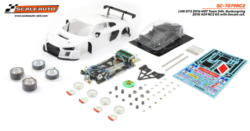 SC-7079RC2 LMS GT3 Nurburgring 2015 #29 SC-8003 GT3 complete Sponge tyres and lexan interior