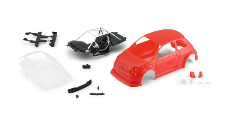 Abarth 500 Assetto Corse EVO – Body kit Red – 1363EVO-R