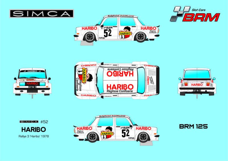BRM 125 - Simca 1000 Haribo Blanche N52