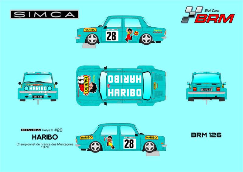 BRM 126 - Simca 1000 Haribo Blue N28
