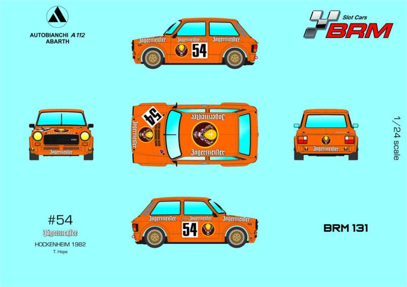 BRM A112 ABARTH - Jagermeister n#54 - Hockenheim 1982 - Réf BRM131