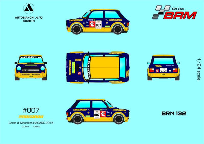 BRM A112 ABARTH - Olio Fiat #007 - Nagano 2015 - Réf BRM132