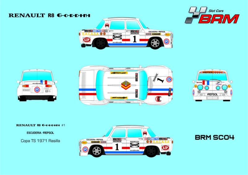 BRM SC04 - Renault R8 Gordini Escuderia Repsol