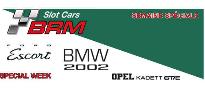 BRM: les prochaines livrées des Kadett, Escort et BMW 2002