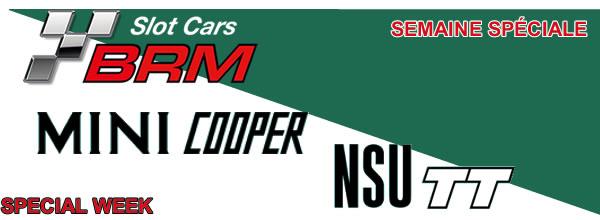 BRM: les prochaines livrées des NSU TT et Mini Cooper