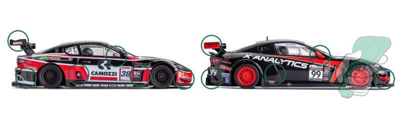 Les différences entre les carrosseries de la Maserati GT3 et la GT4 - Slot.it
