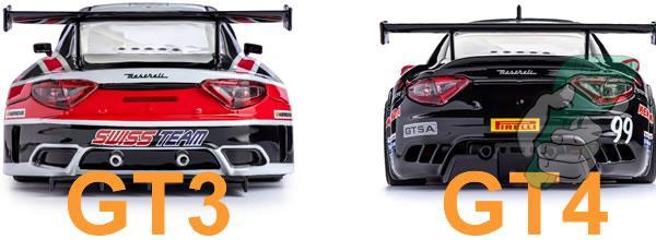 Les différences entre les carrosseries de la Maserati GT3 et la GT4