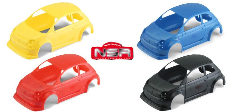 NSR: Des kits de carrosserie de couleur pour l'Abarth 500 Asseto Corse EVO