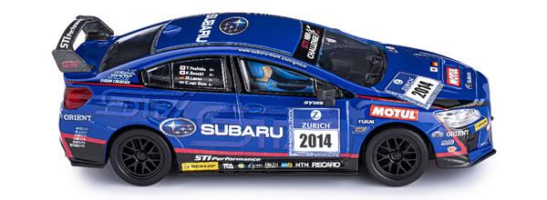 Policar  la Subaru WRX STI - 24h Nurburgring Présentation 2014 proche des pistes de slot