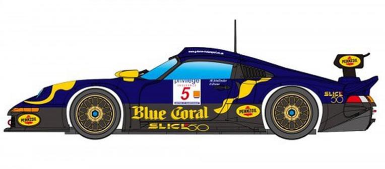Porsche 911 GT1 LM Nr.5 Blue Coral - RevoSlot RS0103