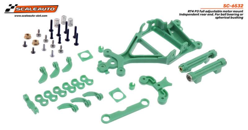 Support de moteur AW RT-4 P3 à décalage réglable avec support de roulement arrière et roulements sphériques