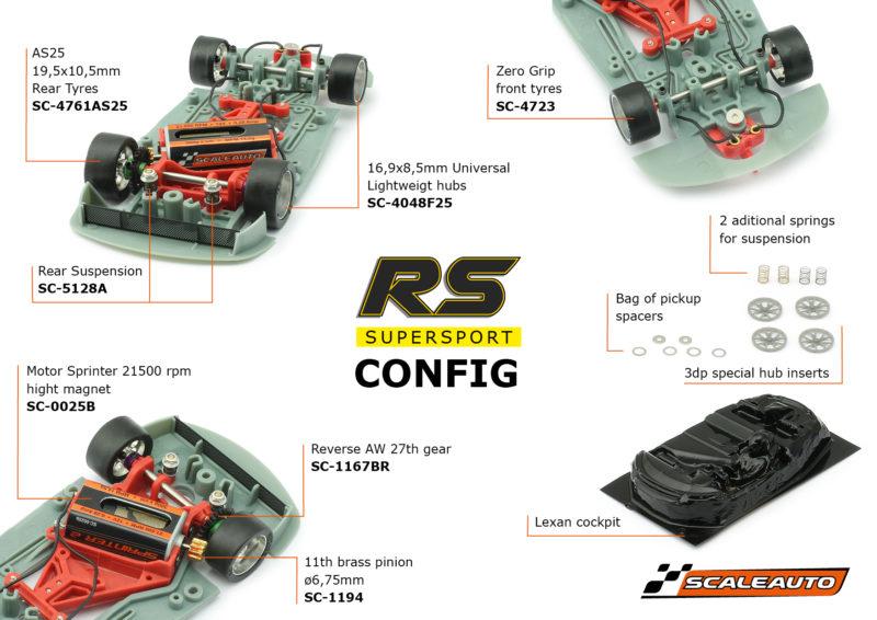 Scaleauto les slot cars de la gamme RS Supersport