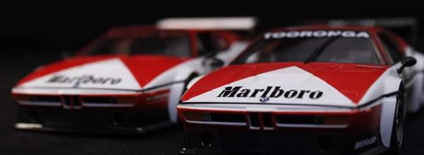 Fly Slot Cars le coffret BMW M1 Marlboro 1000 kms de Kyalami 1979-1
