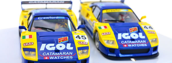 Revoslot les photos des deux Ferrari F40 Igol Ennea Le Mans 1996