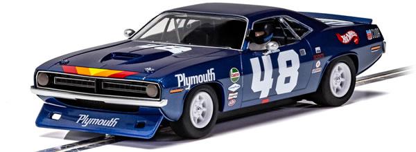 Scalextric la Plymouth Barracuda - Trans Am 1970 - Dan Gurney - C4219