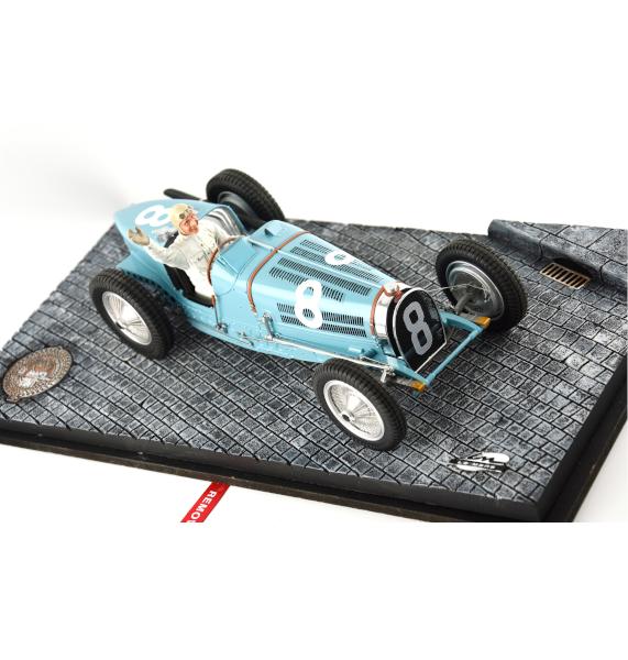 BUGATTI TYPE 59 N°8 PILOTÉE PAR RENÉ DREYFUS GP de Monaco de 1934