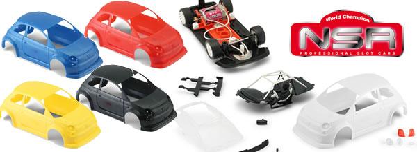 NSR: Des kits quatre couleurs pour l'Abarth 500 Asseto Corse