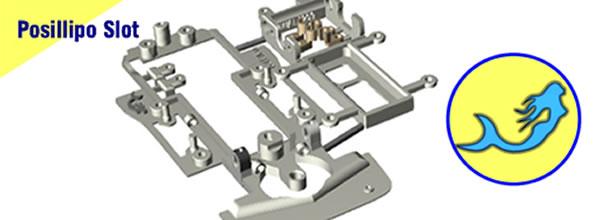 Posillipo Slotcar 3D: Des châssis en impression 3 pour les slot cars